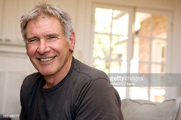 Actor Harrison Ford is photographed at his home for Paris Match on August 25 2009 in Brentwood California