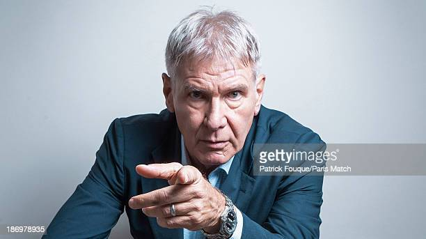 Actor Harrison Ford is photographed for Paris Match on November 1 2013 in Paris France