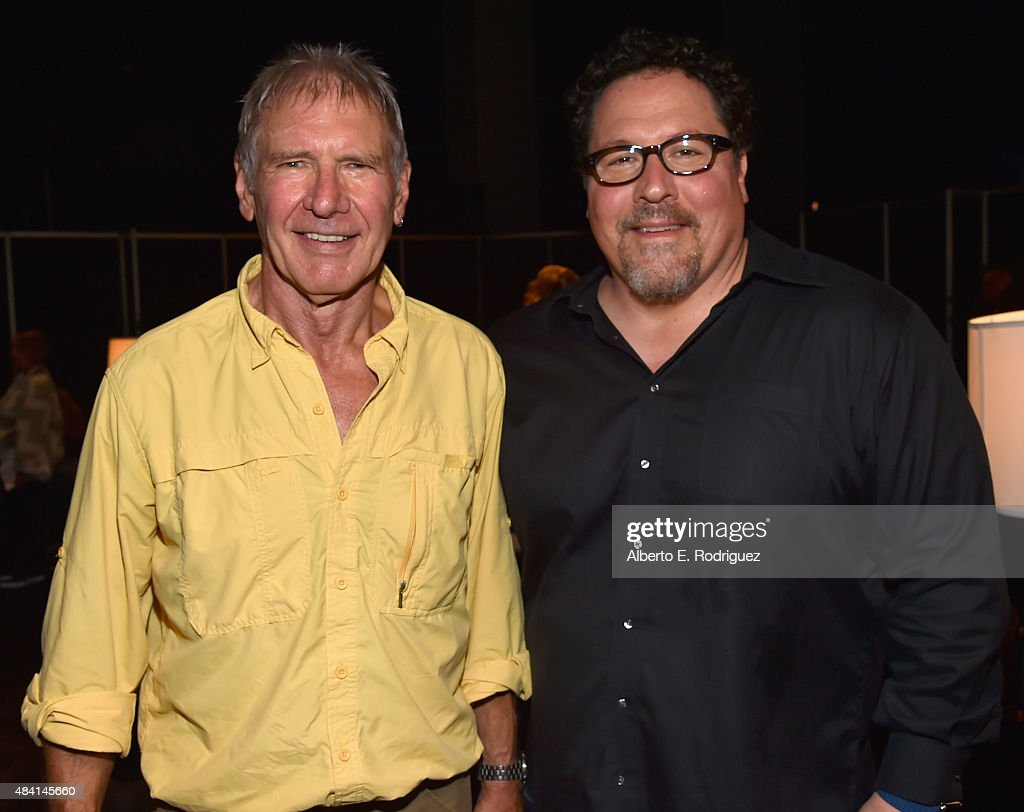 THE FORCE AWAKENS (L) and director Jon Favreau of THE JUNGLE BOOK took part today in 'Worlds, Galaxies, and Universes: Live Action at The Walt Disney Studios' presentation at Disney's D23 EXPO 2015 in Anaheim, Calif.
