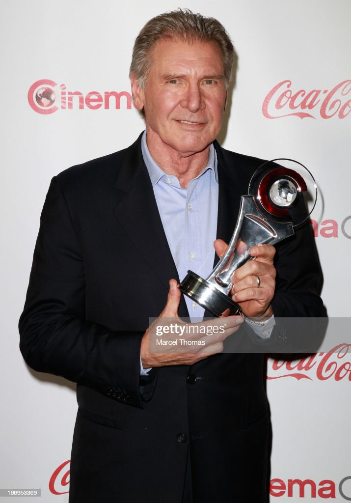 Actor <a gi-track='captionPersonalityLinkClicked' href=/galleries/search?phrase=Harrison+Ford+-+Actor+-+Born+1942&family=editorial&specificpeople=11508906 ng-click='$event.stopPropagation()'>Harrison Ford</a> , recipient of the Lifetime Achievement Award arrives at the CinemaCon Big Screen Achievement Awards at the Pure Nightclub at Caesars Palace during CinemaCon 2013 on April 18, 2013 in Las Vegas, Nevada.
