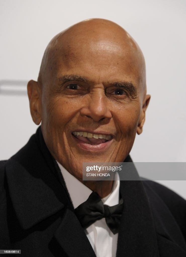 Actor Harry Belafonte arrives at the amfAR (The Foundation for AIDS Research) gala that kicks off the Mercedes-Benz Fashion Week February 6, 2013 in New York. AFP PHOTO/Stan HONDA