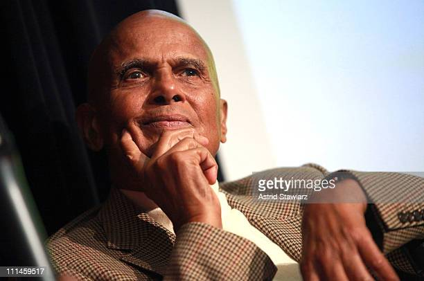 Actor Harry Belafonte attends the 'African Rhythmus' panel discussion at Museum Of Arts And Design on April 2 2011 in New York City