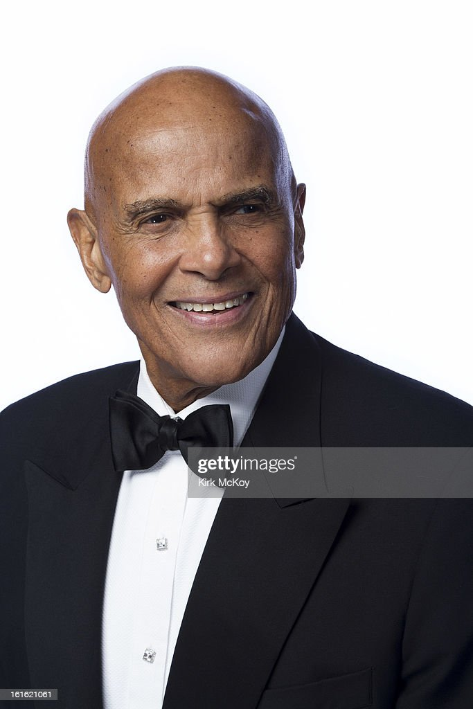 Actor Harry Belafonte is photographed at the NAACP Image Awards for Los Angeles Times on February 1, 2013 in Los Angeles, California. PUBLISHED IMAGE.