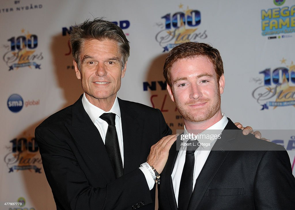 Actor Harry Hamlin and USMC Lance Corporal Matt Lucas arrive for Norby Walters' 24nd Annual Night Of 100 Stars Oscar Viewing Gala held at Beverly Hills Hotel on March 2, 2014 in Beverly Hills, California.