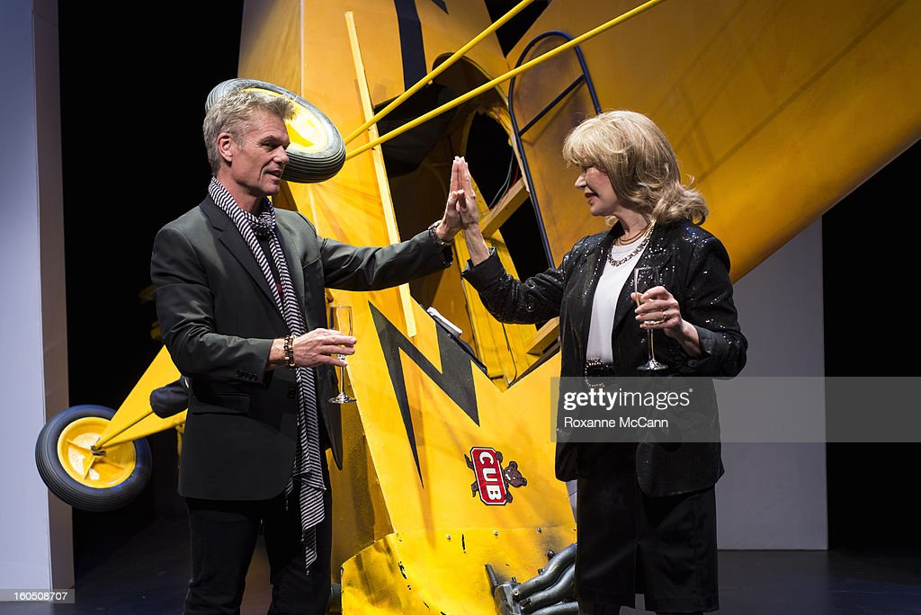 Actor <a gi-track='captionPersonalityLinkClicked' href=/galleries/search?phrase=Harry+Hamlin&family=editorial&specificpeople=211584 ng-click='$event.stopPropagation()'>Harry Hamlin</a> appears in the play One November Yankee, produced and directed by Joshua Ravetch with co-star <a gi-track='captionPersonalityLinkClicked' href=/galleries/search?phrase=Loretta+Swit&family=editorial&specificpeople=625446 ng-click='$event.stopPropagation()'>Loretta Swit</a>, on January 11, 2013 at the NoHo Theater in North Hollywood, California.