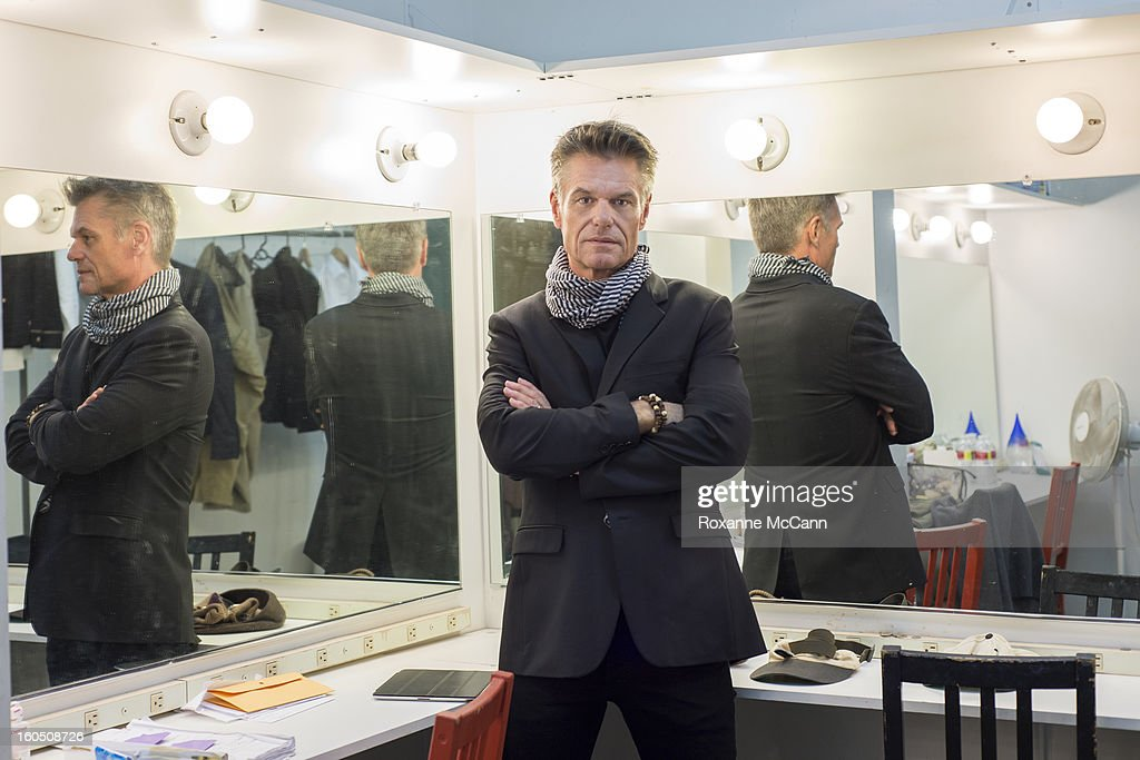Actor <a gi-track='captionPersonalityLinkClicked' href=/galleries/search?phrase=Harry+Hamlin&family=editorial&specificpeople=211584 ng-click='$event.stopPropagation()'>Harry Hamlin</a> backstage before the play One November Yankee, written by Joshua Ravetch on January 11, 2013 at the NoHo Arts Center in North Hollywood, California.