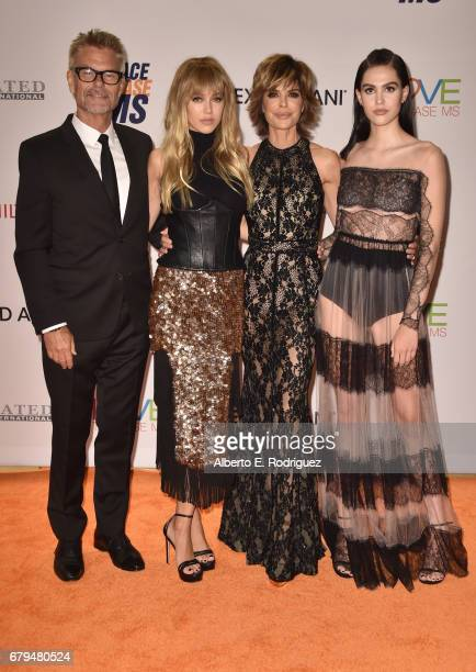 Actor Harry Hamlin Delilah Belle Hamlin actor Lisa Rinna and Amelia Gray Hamlin attend the 24th Annual Race To Erase MS Gala at The Beverly Hilton...