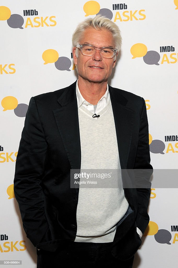 Actor <a gi-track='captionPersonalityLinkClicked' href=/galleries/search?phrase=Harry+Hamlin&family=editorial&specificpeople=211584 ng-click='$event.stopPropagation()'>Harry Hamlin</a> in the IMDb Studio In Park City for 'IMDb Asks': Day Two - on January 23, 2016 in Park City, Utah.