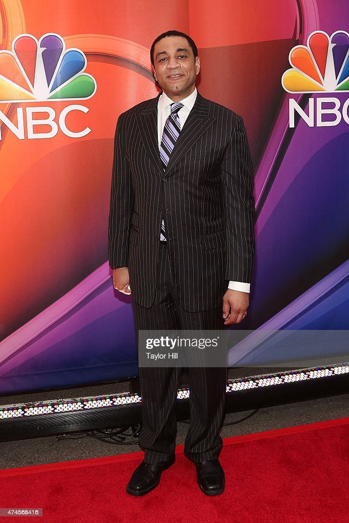 Actor Harry Lennix attends the 2015 NBC Upfront Presentation red carpet event at Radio City Music Hall on May 11 2015 in New York City