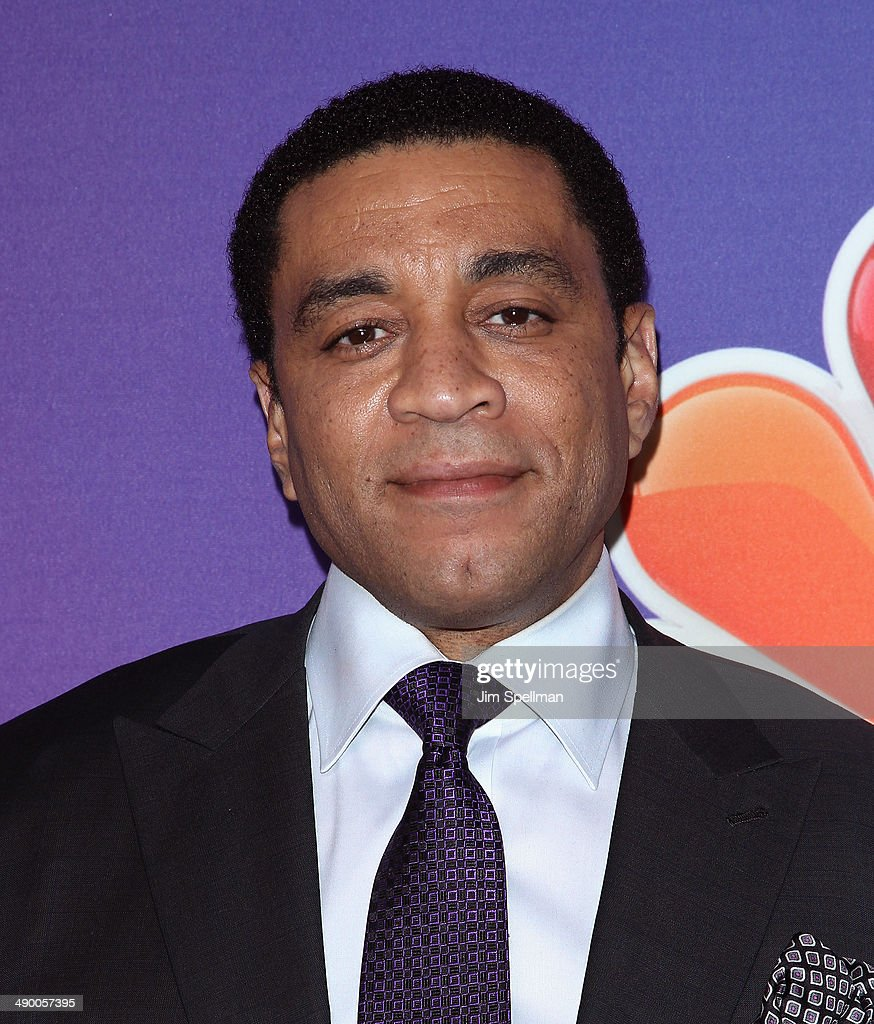 Actor Harry Lennix from 'The Blacklist' attends the 2014 NBC Upfront Presentation at The Jacob K Javits Convention Center on May 12 2014 in New York...
