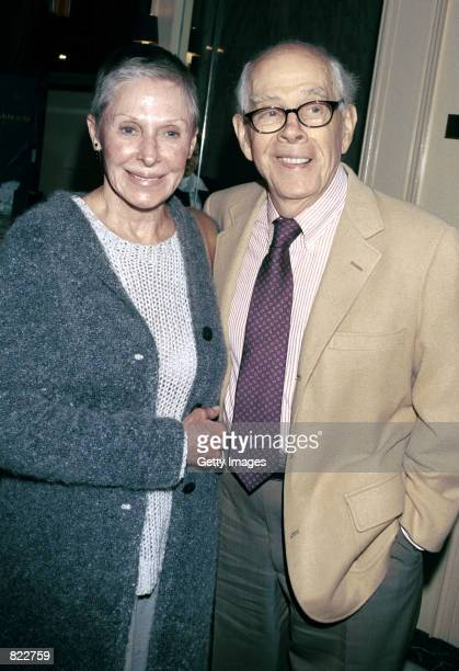 Actor Harry Morgan and his wife attend the Los Angeles chapter of Death Penalty Focus'' 10th Annual awards banquet April 4 2001 in Los Angeles CA DPF...