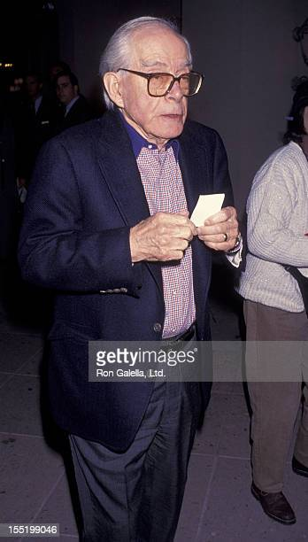 Actor Harry Morgan attends CBS TV Affiliates Party on January 13 1994 at the Ritz Carlton Hotel in Pasadena California