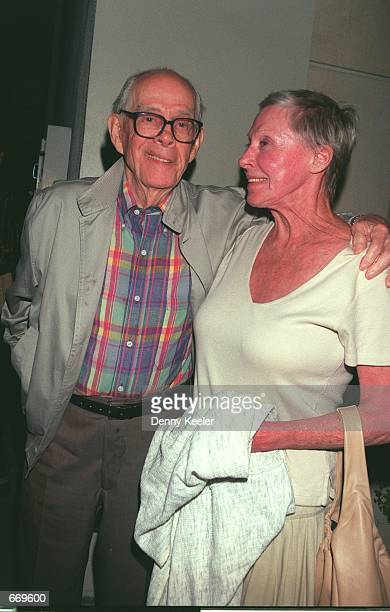 Actor Harry Morgan from 'M*A*S*H' arrive at Matteos Restaurant May 28 2000 in Westwood CA