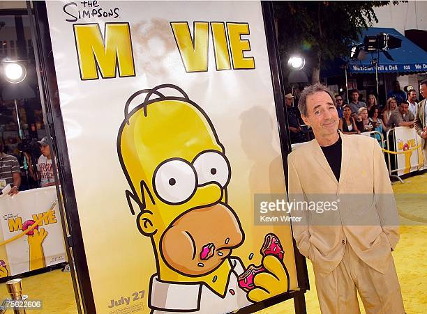 Actor Harry Shearer arrives at the Los Angeles premiere of 20th Century Fox's 'The Simpsons Movie' held at the Mann Village Theaters on July 24 2007...