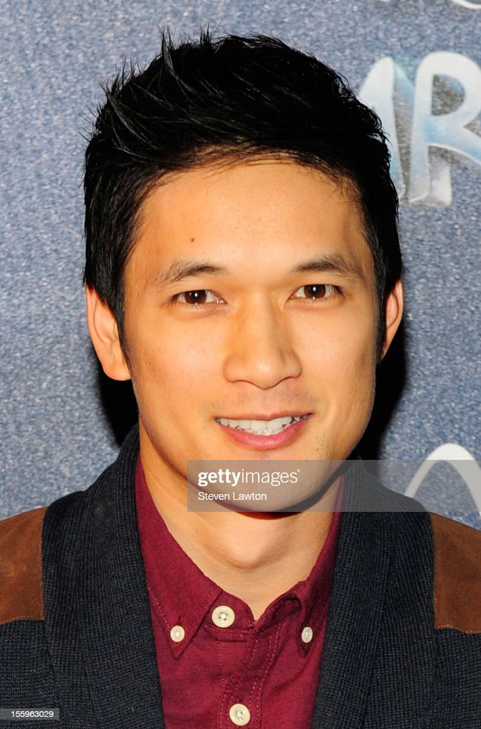 Actor Harry Shum Jr. arrives at the Las Vegas premiere of 'Zarkana by Cirque du Soleil' at the Aria Resort & Casino at CityCenter on November 9, 2012 in Las Vegas, Nevada.