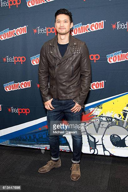 Actor Harry Shum Jr attends the Shadowhunters Season 2 QA press room during 2016 New York Comic Con at the Jacob Javitz Center on October 8 2016 in...