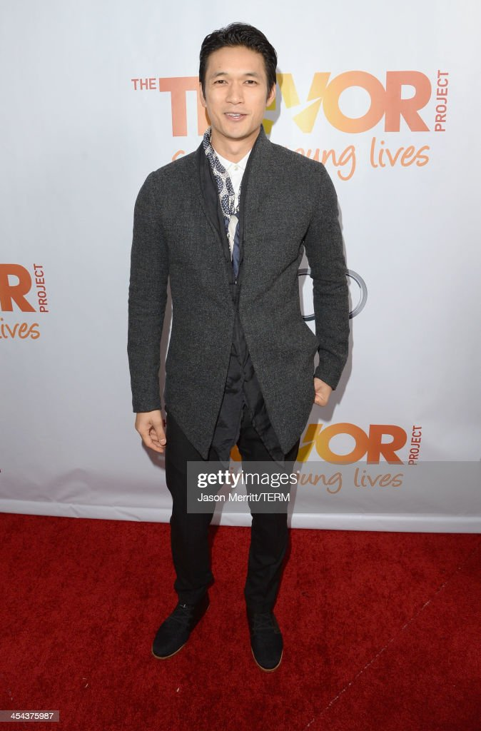 Actor <a gi-track='captionPersonalityLinkClicked' href=/galleries/search?phrase=Harry+Shum+Jr.&family=editorial&specificpeople=4862988 ng-click='$event.stopPropagation()'>Harry Shum Jr.</a> attends 'TrevorLIVE LA' honoring Jane Lynch and Toyota for the Trevor Project at Hollywood Palladium on December 8, 2013 in Hollywood, California.