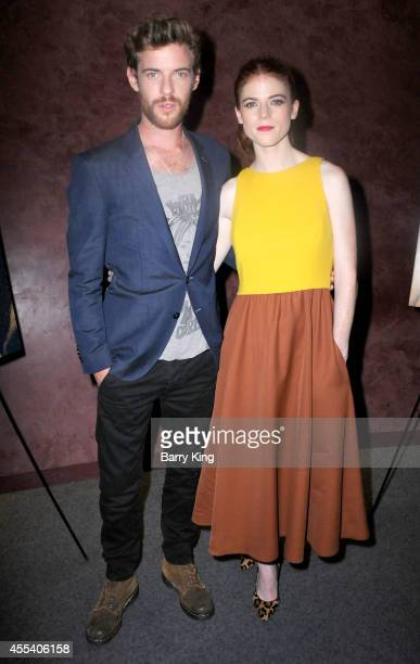 Actor Harry Treadaway and actress Rose Leslie attend the Los Angeles premiere of 'Honeymoon' at the Landmark Theater on August 26 2014 in Los Angeles...