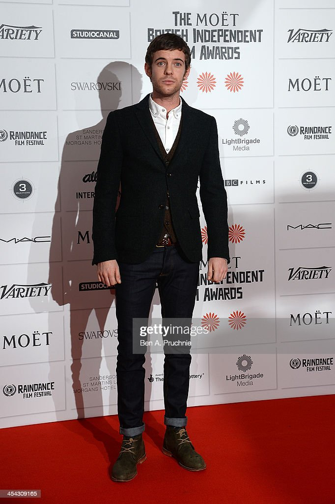 Actor Harry Treadaway arrives on the red carpet for the Moet British Independent Film Awards at Old Billingsgate Market on December 8, 2013 in London, England.