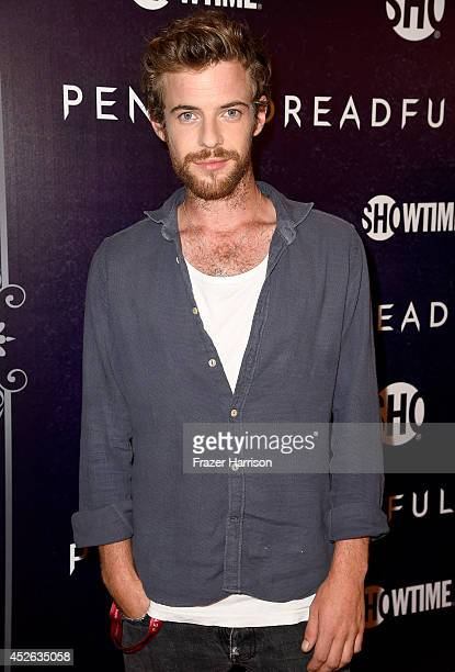 Actor Harry Treadaway attends Showtime's 'Penny Dreadful' premiere during ComicCon International 2014 at Hilton Bayfront on July 24 2014 in San Diego...