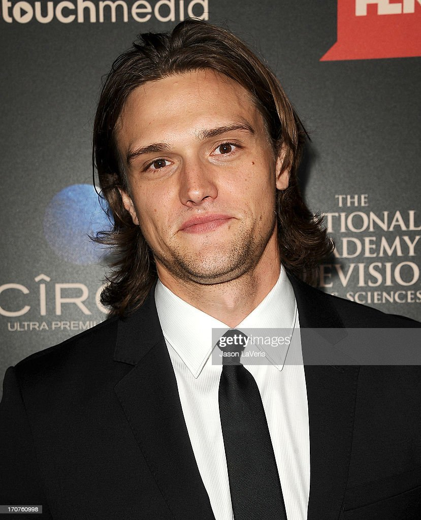 Actor Hartley Sawyer attends the 40th annual Daytime Emmy Awards at The Beverly Hilton Hotel on June 16, 2013 in Beverly Hills, California.