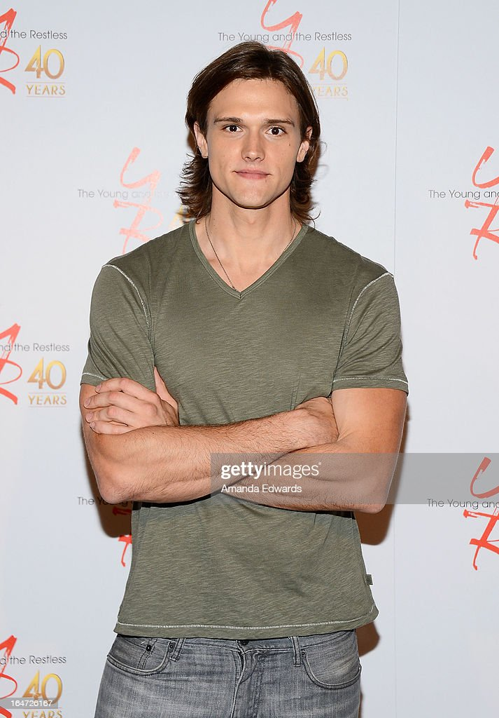 Actor Hartley Sawyer attends the 'The Young & The Restless' 40th anniversary cake-cutting ceremony at CBS Television City on March 26, 2013 in Los Angeles, California.