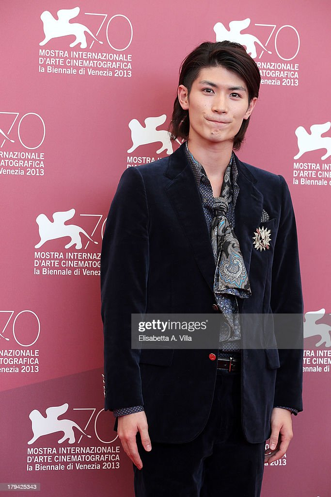 Actor <a gi-track='captionPersonalityLinkClicked' href=/galleries/search?phrase=Haruma+Miura&family=editorial&specificpeople=7470001 ng-click='$event.stopPropagation()'>Haruma Miura</a> attends 'Harlock Space Pirate' Photocall at the 70th Venice International Film Festival at Palazzo del Casino on September 3, 2013 in Venice, Italy.