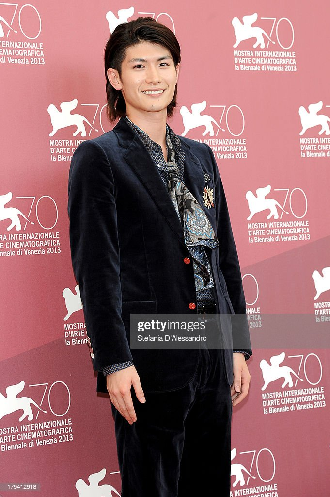 Actor <a gi-track='captionPersonalityLinkClicked' href=/galleries/search?phrase=Haruma+Miura&family=editorial&specificpeople=7470001 ng-click='$event.stopPropagation()'>Haruma Miura</a> attends 'Harlock: Space Pirate' Photocall during the 70th Venice International Film Festival at Palazzo del Casino on September 3, 2013 in Venice, Italy.