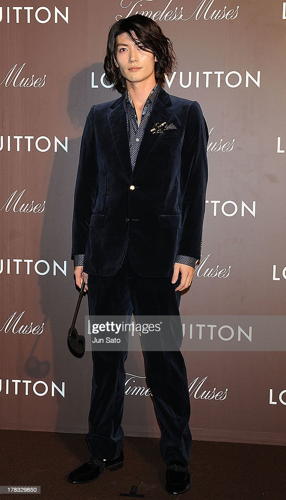 Actor <a gi-track='captionPersonalityLinkClicked' href=/galleries/search?phrase=Haruma+Miura&family=editorial&specificpeople=7470001 ng-click='$event.stopPropagation()'>Haruma Miura</a> attends Louis Vuitton 'Timeless Muses' exhibition at the Tokyo Station Hotel on August 29, 2013 in Tokyo, Japan.