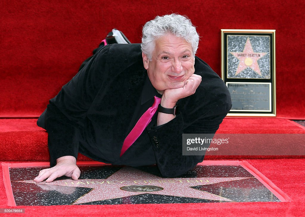 Actor Harvey Fierstein attends Cyndi Lauper and Harvey Fierstein being honored with a Double Star ceremony on the Hollywood Walk of Fame on April 11...