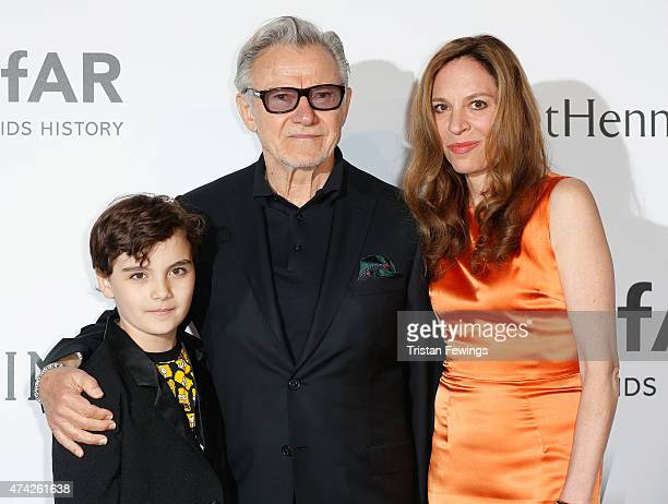 Actor Harvey Keitel and Daphna Kastner attend amfAR's 22nd Cinema Against AIDS Gala Presented By Bold Films And Harry Winston at Hotel du CapEdenRoc...