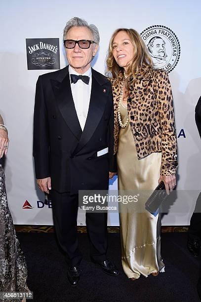 Actor Harvey Keitel and Daphna Kastner attend the Friars Foundation Gala honoring Robert De Niro and Carlos Slim at The Waldorf=Astoria on October 7...