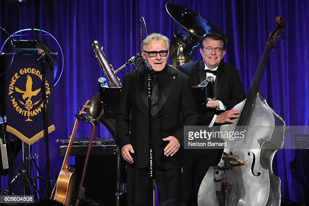 Actor Harvey Keitel appears onstage at Friars Club Honoring Martin Scorsese With the Entertainment Icon Award at Cipriani Wall Street on September 21...