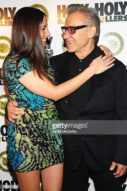 Actor Harvey Keitel with daughter Stella Keitel at the 'Holy Rollers' premiere at Landmark's Sunshine Cinema on May 10 2010 in New York City