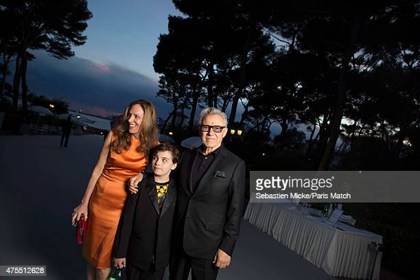 Actor Harvey Keitel with his wife Daphna Kastner and son Roman attend the 22nd Gala for AmFar Cinema Against AIDS Photographed for Paris Match at the...