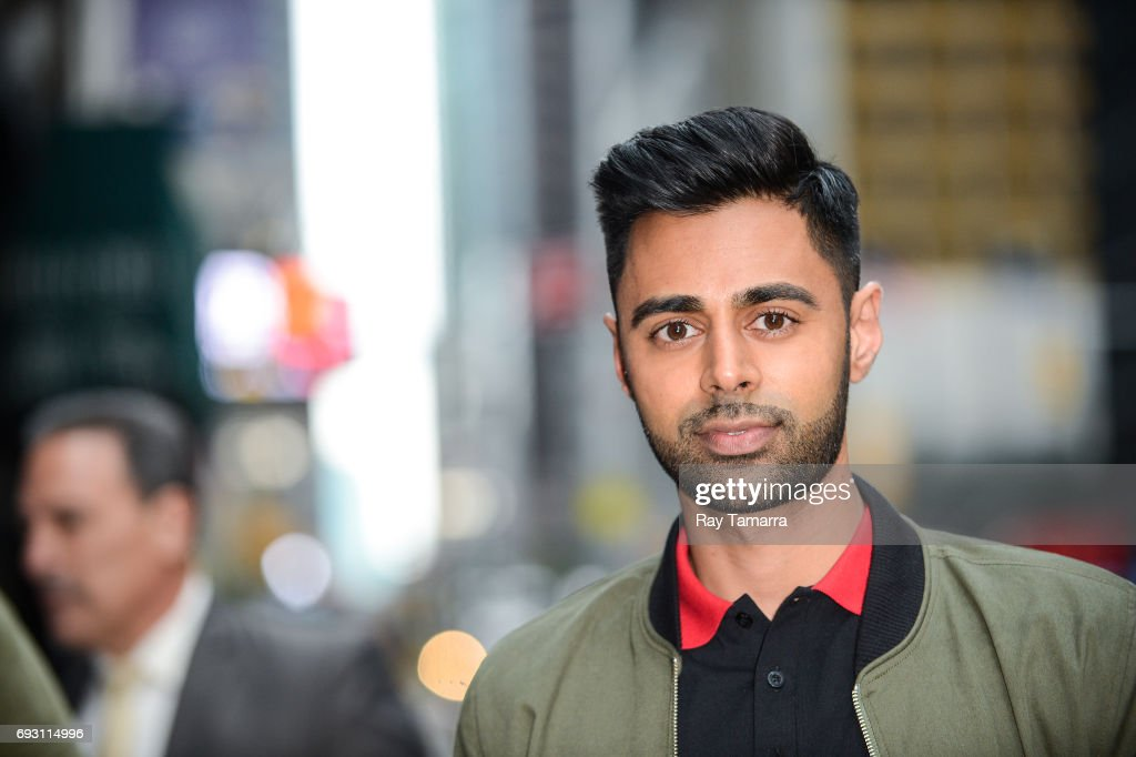 Actor Hasan Minhaj enters the 'The Late Show With Stephen Colbert' taping at the Ed Sullivan Theater on June 06, 2017 in New York City.