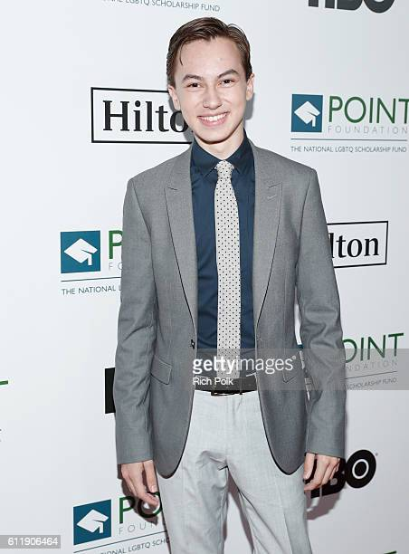 Actor Hayden Byerly arrives at Point Foundation's Point Honors gala at The Beverly Hilton Hotel on October 1 2016 in Beverly Hills California