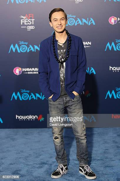 Actor Hayden Byerly arrives at the AFI FEST 2016 presented by Audi premiere of Disney's 'Moana' held at the El Capitan Theatre on November 14 2016 in...
