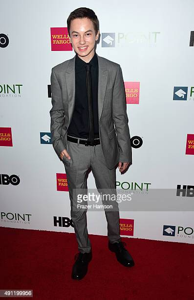 Actor Hayden Byerly arrives at the Point Foundation's Voices On Point Gala at the Hyatt Regency Century Plaza on October 3 2015 in Century City...