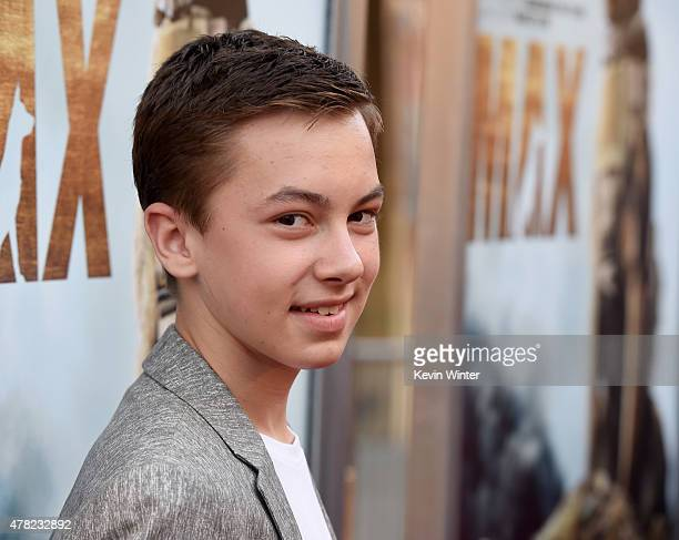 Actor Hayden Byerly arrives at the premiere of Warner Bros Pictures and MetroGoldwynMayer Pictures' 'Max' at the Egyptian Theatre on June 23 2015 in...