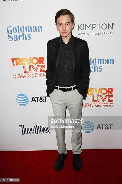 Actor Hayden Byerly arrives at the TrevorLIVE Los Angeles 2016 Fundraiser at The Beverly Hilton Hotel on December 4 2016 in Beverly Hills California