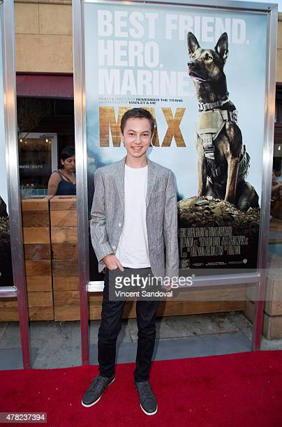 Actor Hayden Byerly attends the Los Angeles premiere of 'MAX' at the Egyptian Theatre on June 23 2015 in Hollywood California