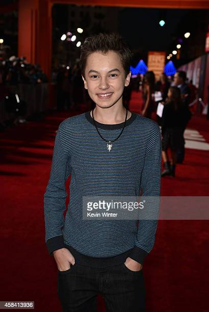 Actor Hayden Byerly attends the premiere of Disney's 'Big Hero 6' at the El Capitan Theatre on November 4 2014 in Hollywood California