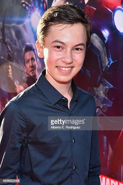 Actor Hayden Byerly attends the world premiere of Marvel's 'Avengers Age Of Ultron' at the Dolby Theatre on April 13 2015 in Hollywood California