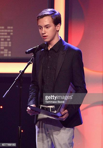 Actor Hayden Byerly speaks onstage during The Trevor Project's 2016 TrevorLIVE LA at The Beverly Hilton Hotel on December 4 2016 in Beverly Hills...