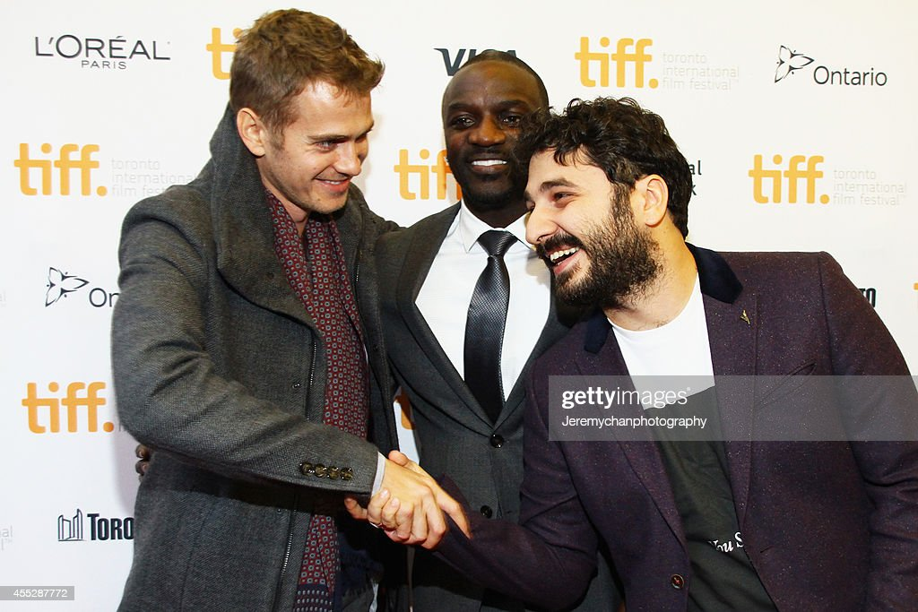 Actor Hayden Christensen, actor/recording artist Aliaune Thiam aka Akon, and director Sarik Andreasyan arrive at the 'American Heist' Premiere during the 2014 Toronto International Film Festival held at the Princess of Wales Theatre on September 11, 2014 in Toronto, Canada.
