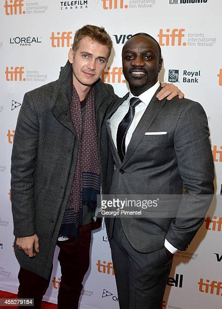 Actor Hayden Christensen and actor/recording artist Akon attend the 'American Heist' premiere during the 2014 Toronto International Film Festival at...