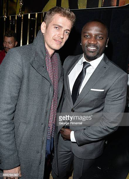 Actor Hayden Christensen and actor/recording artist Akon attend the 'American Heist' premiere after party hosted by Ink Entertainment and YYZ Group...