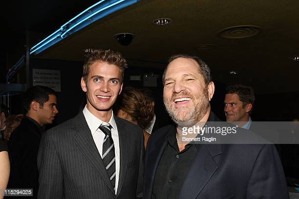 Actor Hayden Christensen and producer Harvey Weinstein attend the preimere of 'Awake' at Chelsea West Cinema November 14 New York New York