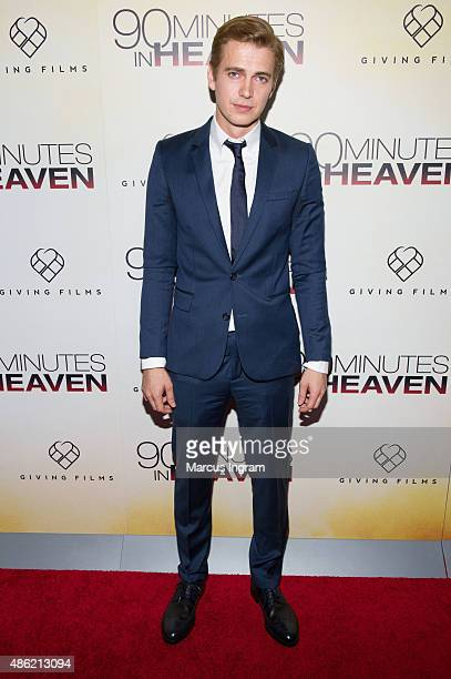 Actor Hayden Christensen attends '90 Minutes In Heaven' Atlanta premiere at Fox Theater on September 1 2015 in Atlanta Georgia